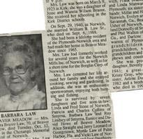 Barbara Lucile Brazee Law
