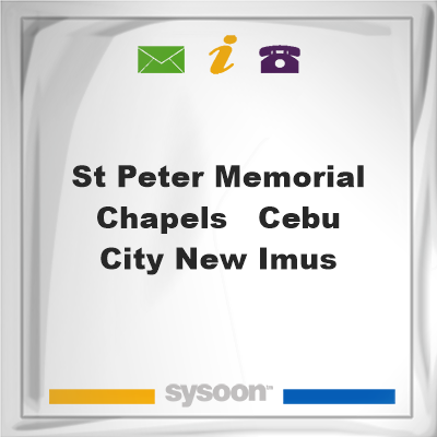 St. Peter Memorial Chapels - Cebu City, New Imus, St. Peter Memorial Chapels - Cebu City, New Imus, cemetery
