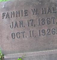 Fannie W Hall