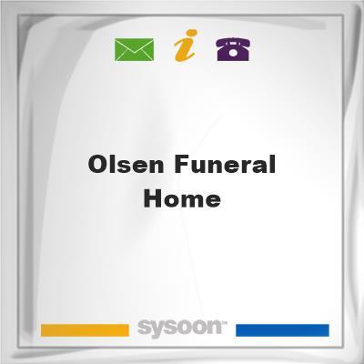 Olsen Funeral Home, Olsen Funeral Home