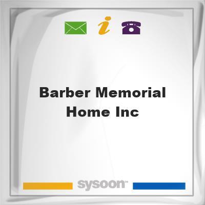 Barber Memorial Home Inc, Barber Memorial Home Inc