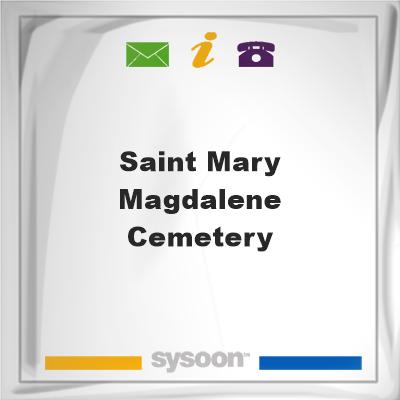 Saint Mary Magdalene Cemetery, Saint Mary Magdalene Cemetery