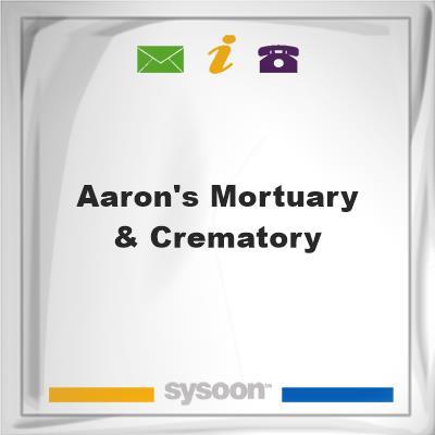 Aaron's Mortuary & Crematory, Aaron's Mortuary & Crematory