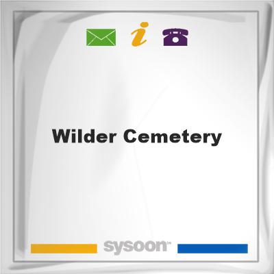 Wilder Cemetery, Wilder Cemetery