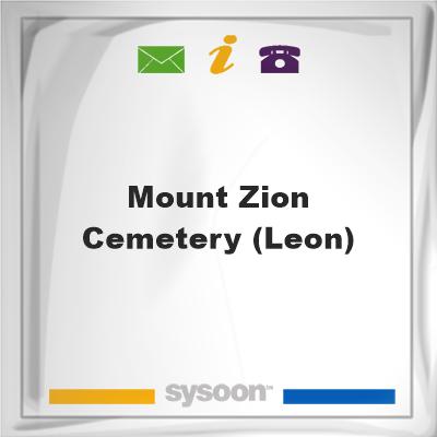 Mount Zion Cemetery (Leon), Mount Zion Cemetery (Leon)