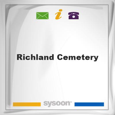 Richland Cemetery, Richland Cemetery