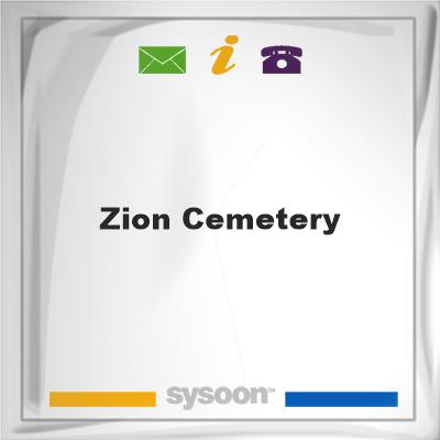 Zion Cemetery, Zion Cemetery