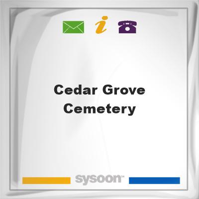 Cedar Grove Cemetery, Cedar Grove Cemetery