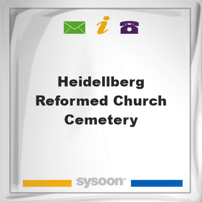 Heidellberg Reformed Church Cemetery, Heidellberg Reformed Church Cemetery