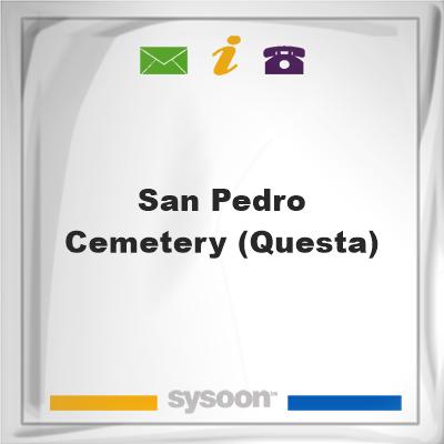 San Pedro Cemetery (Questa), San Pedro Cemetery (Questa)