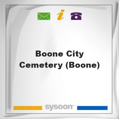 Boone City Cemetery (Boone), Boone City Cemetery (Boone)