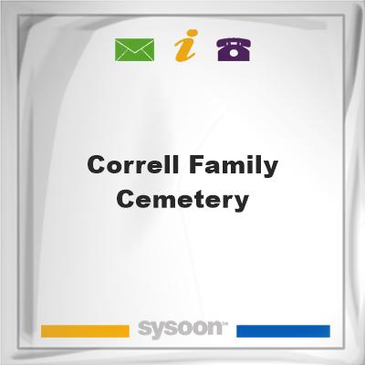 Correll Family Cemetery, Correll Family Cemetery
