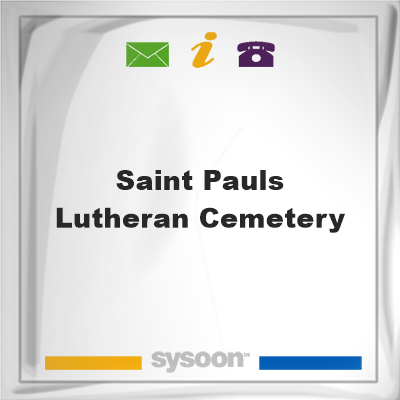Saint Pauls Lutheran Cemetery, Saint Pauls Lutheran Cemetery
