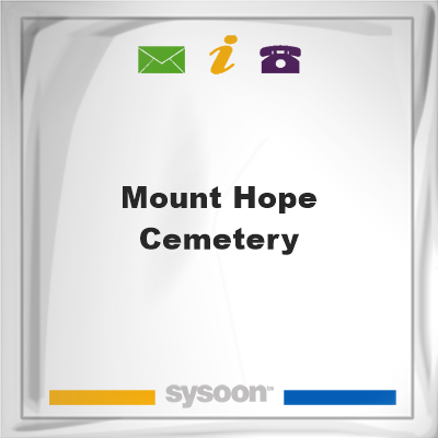Mount Hope Cemetery, Mount Hope Cemetery