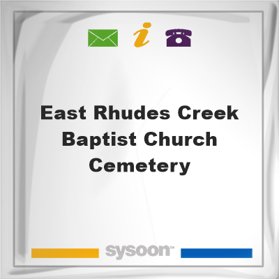East Rhudes Creek Baptist Church Cemetery, East Rhudes Creek Baptist Church Cemetery