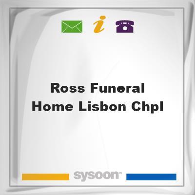 Ross Funeral Home Lisbon Chpl, Ross Funeral Home Lisbon Chpl