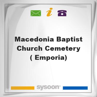 Macedonia Baptist Church Cemetery ( Emporia), Macedonia Baptist Church Cemetery ( Emporia)