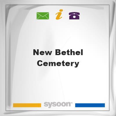 New Bethel Cemetery, New Bethel Cemetery