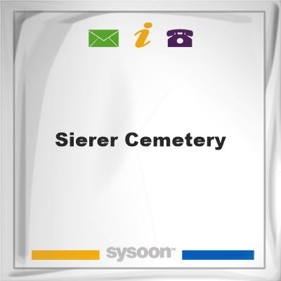 Sierer Cemetery, Sierer Cemetery