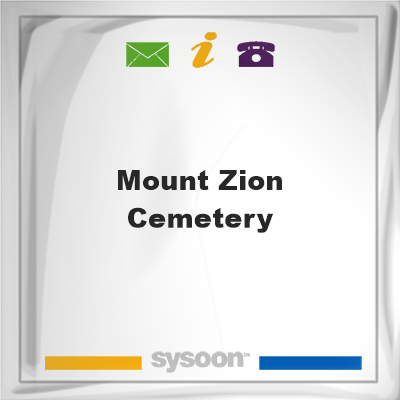 Mount Zion CemeteryMount Zion Cemetery on Sysoon