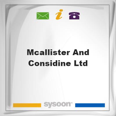 McAllister and Considine Ltd, McAllister and Considine Ltd