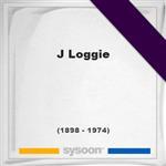 J Loggie, Headstone of J Loggie (1898 - 1974), memorial