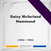 Daisy Mcfarland Hammond on Sysoon