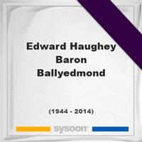Edward Haughey, Baron Ballyedmond on Sysoon