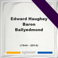Edward Haughey, Baron Ballyedmond, Headstone of Edward Haughey, Baron Ballyedmond (1944 - 2014), memorial