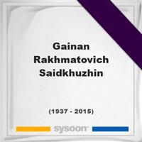Gainan Rakhmatovich Saidkhuzhin on Sysoon