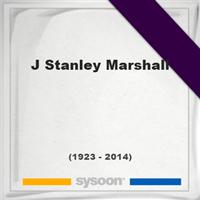 J. Stanley Marshall, Headstone of J. Stanley Marshall (1923 - 2014), memorial