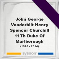 John George Vanderbilt Henry Spencer-Churchill, 11Th Duke Of Marlborough, Headstone of John George Vanderbilt Henry Spencer-Churchill, 11Th Duke Of Marlborough (1926 - 2014), memorial