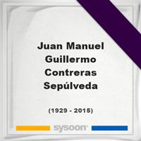 Juan Manuel Guillermo Contreras Sepúlveda, Headstone of Juan Manuel Guillermo Contreras Sepúlveda (1929 - 2015), memorial
