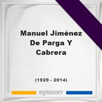 Manuel Jiménez De Parga Y Cabrera, Headstone of Manuel Jiménez De Parga Y Cabrera (1929 - 2014), memorial