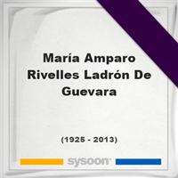 María Amparo Rivelles Ladrón De Guevara, Headstone of María Amparo Rivelles Ladrón De Guevara (1925 - 2013), memorial