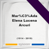 María Elena Lucena Arcuri, Headstone of María Elena Lucena Arcuri (1914 - 2015), memorial