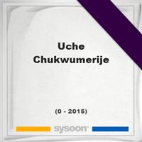 Uche Chukwumerije, Headstone of Uche Chukwumerije (0 - 2015), memorial