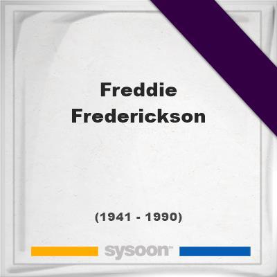 Freddie Frederickson, Headstone of Freddie Frederickson (1941 - 1990), memorial