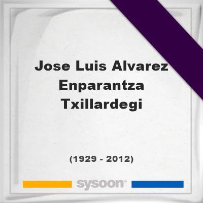 Headstone of Jose Luis Alvarez Enparantza - Txillardegi (1929 - 2012), memorialJose Luis Alvarez Enparantza - Txillardegi on Sysoon