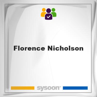Florence Nicholson, Florence Nicholson, member
