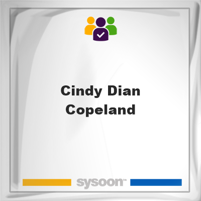 Cindy Dian Copeland, memberCindy Dian Copeland on Sysoon