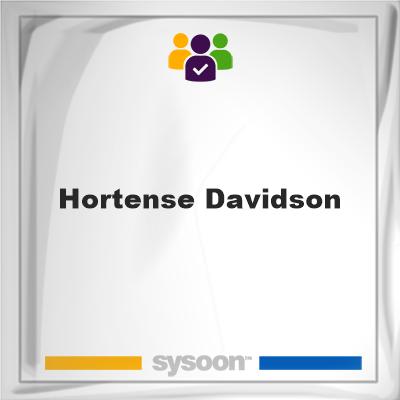 Hortense Davidson, Hortense Davidson, member