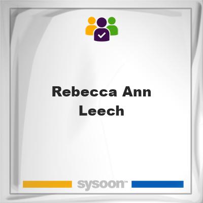 Rebecca Ann Leech, Rebecca Ann Leech, member