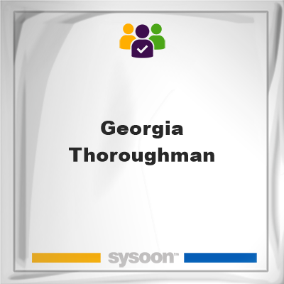 Georgia Thoroughman, Georgia Thoroughman, member