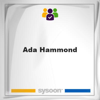 Ada Hammond, Ada Hammond, member