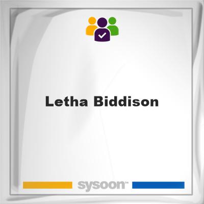 Letha Biddison, Letha Biddison, member
