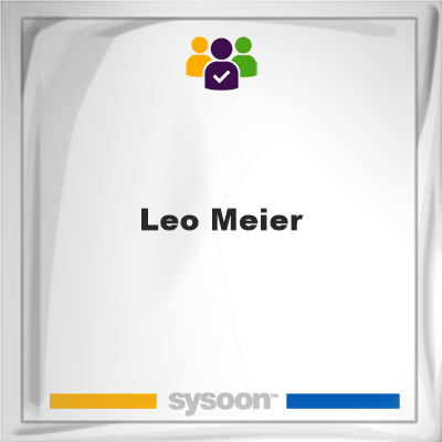 Leo Meier, Leo Meier, member