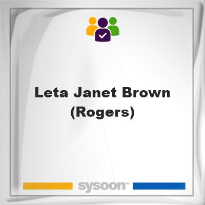 Leta Janet Brown (Rogers), Leta Janet Brown (Rogers), member