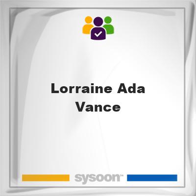 Lorraine Ada Vance, memberLorraine Ada Vance on Sysoon