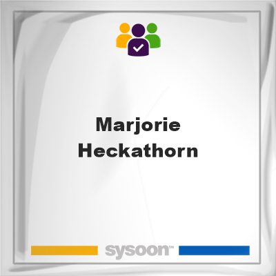Marjorie Heckathorn, Marjorie Heckathorn, member